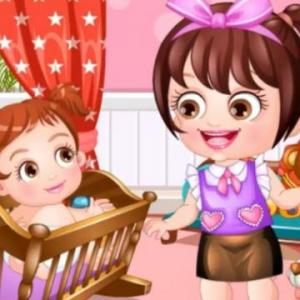 Baby Hazel As Babysitter - A lovely babysitter