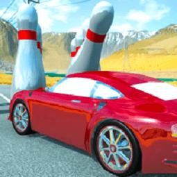 Crazy Car Crash Stunts Bowling Edition