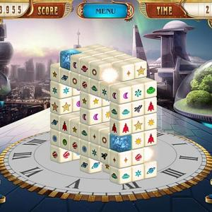 Mahjong 3D - Match all the blocks having the same symbol